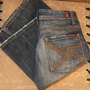 7 For All Mankind Flynt boo cut jeans size 25